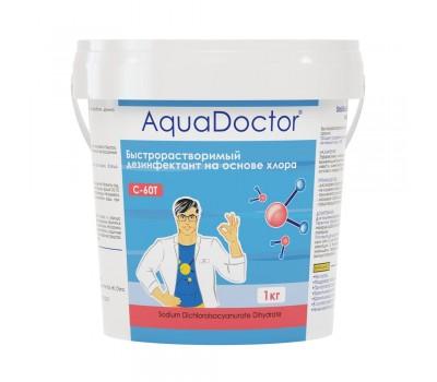 Дезинфектант AquaDoctor хлор-шок C-60Т 1 кг в таблетках