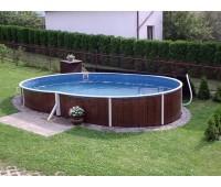 Бассейн круглый Azuro 405DL (7,3х3,7х1,25 м) без оборудования